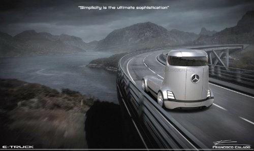 Mercedes-Benz E-Truck thiết kế như vật ngoài hành tinh - 9