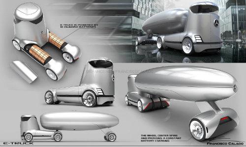 Mercedes-Benz E-Truck thiết kế như vật ngoài hành tinh - 7