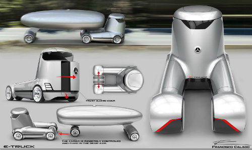 Mercedes-Benz E-Truck thiết kế như vật ngoài hành tinh - 8