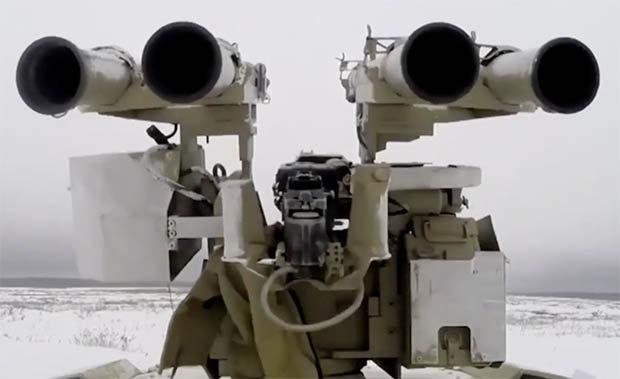 Nga ra mắt xe tăng robot có thể biến thành bom di động - 2