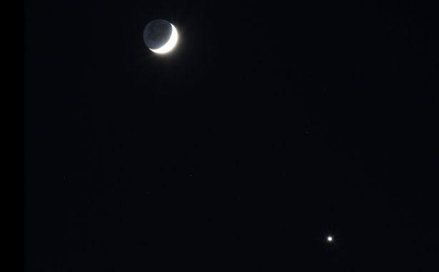 Sao Hỏa, Mặt Trăng, Sao Kim xếp hàng trên bầu trời Anh - 4