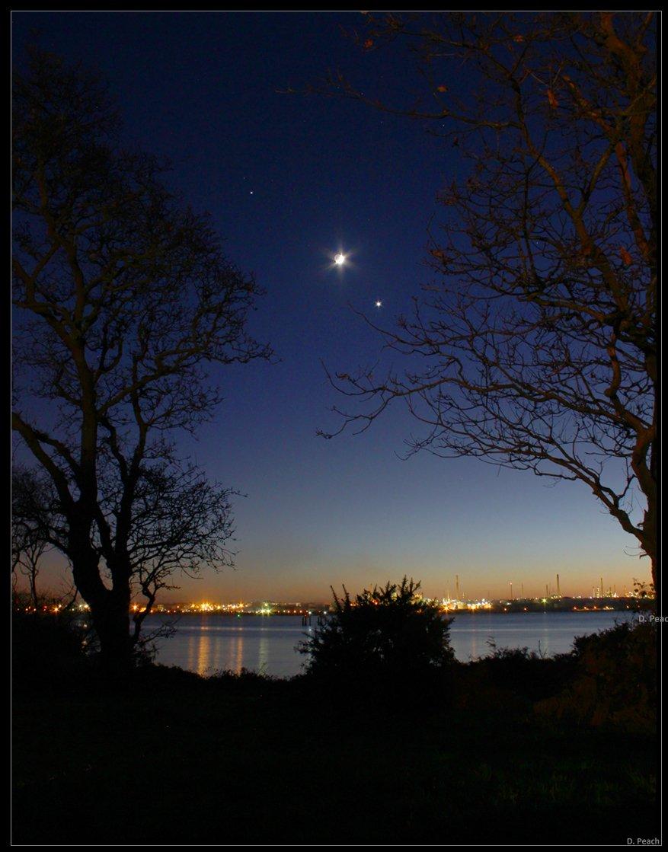 Sao Hỏa, Mặt Trăng, Sao Kim xếp hàng trên bầu trời Anh - 2
