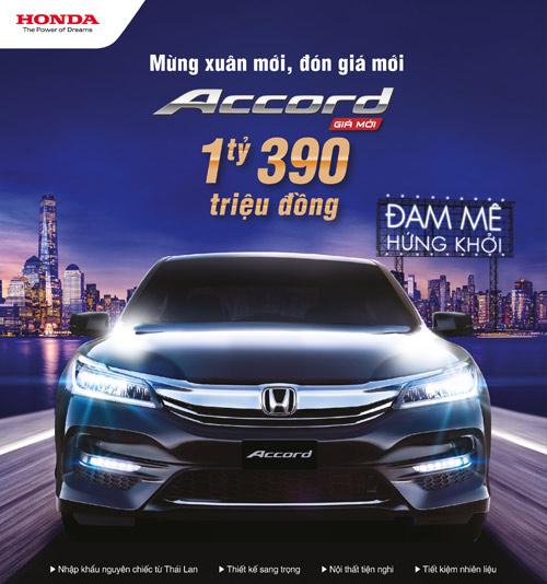 Honda Việt Nam công bố giá mới hấp dẫn cho Accord từ tháng 1/2017 - 4
