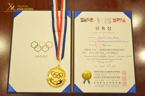 TMV Xuân Hương vinh dự nhận bằng khen từ Hiệp hội Thẩm mỹ IHO Hàn Quốc - 1