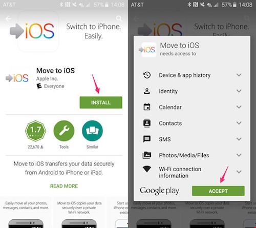 Cách sao lưu dữ liệu từ smartphone Android sang iPhone - 2