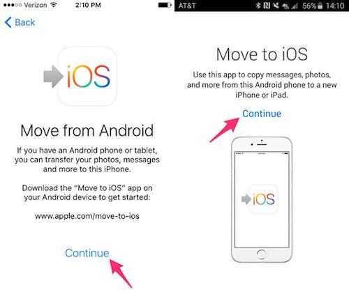 Cách sao lưu dữ liệu từ smartphone Android sang iPhone - 3