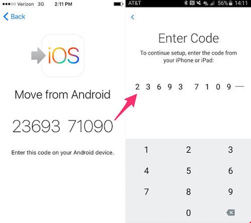 Cách sao lưu dữ liệu từ smartphone Android sang iPhone - 4