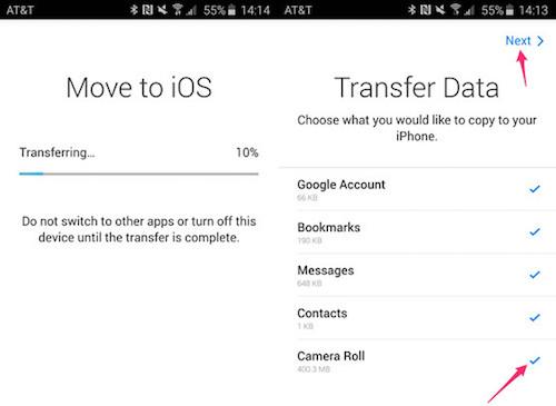 Cách sao lưu dữ liệu từ smartphone Android sang iPhone - 5