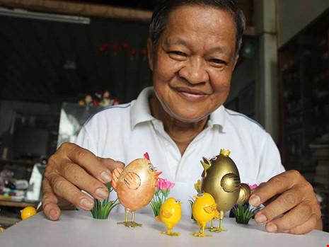 Ước mơ của nghệ nhân tạo hình từ vỏ trứng - 1