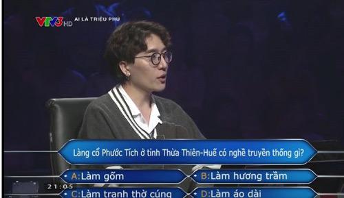 Tác giả bản hit của Hà Hồ giành 40 triệu tại Ai là triệu phú - 1