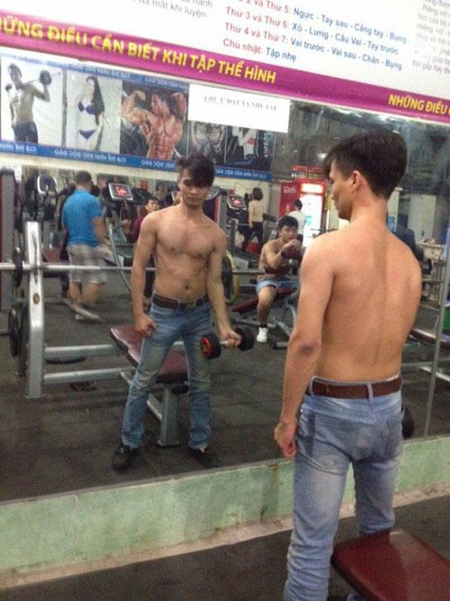 Lệ Rơi khoe body khác lạ trong phòng tập gym - 2