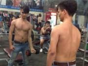 Lệ Rơi khoe body khác lạ trong phòng tập gym