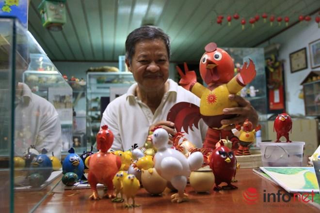 Chiêm ngưỡng đàn gà từ vỏ trứng của nghệ nhân Sài Gòn - 1