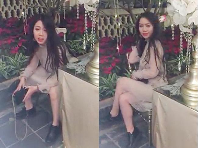 Đang ngồi với tư thế rất nam tính, cô gái nhanh chóng tạo dáng yểu điệu, sang chảnh. Đó là nội dung clip 7 giây được dân mạng thích thú chia sẻ mấy ngày nay.
