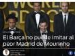 Báo TBN chê Barca-Messi thô lỗ như Real-Mourinho