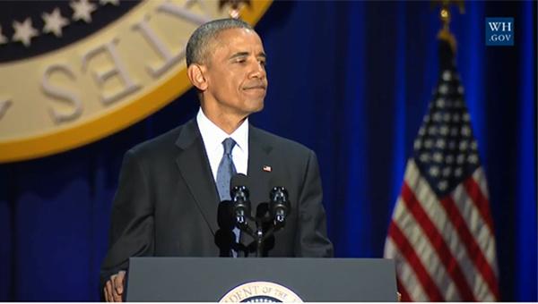Obama rớm lệ khi nhắc vợ con trong bài phát biểu cuối cùng - 4
