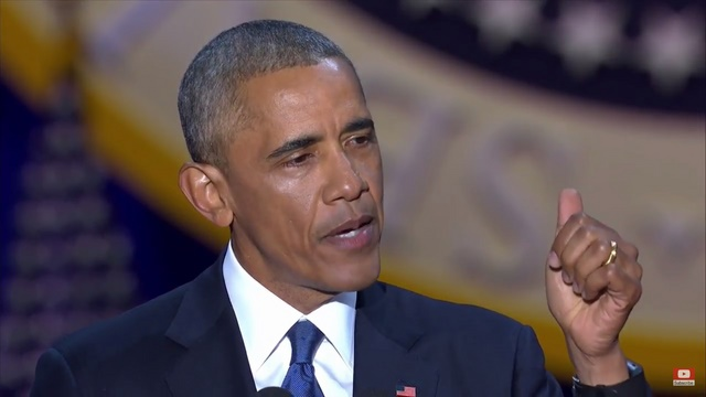 Obama rớm lệ khi nhắc vợ con trong bài phát biểu cuối cùng - 2