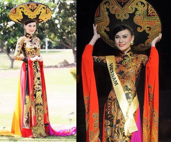Áo dài Việt họa tiết rồng quá kỳ công và ấn tượng với quốc tế - 7