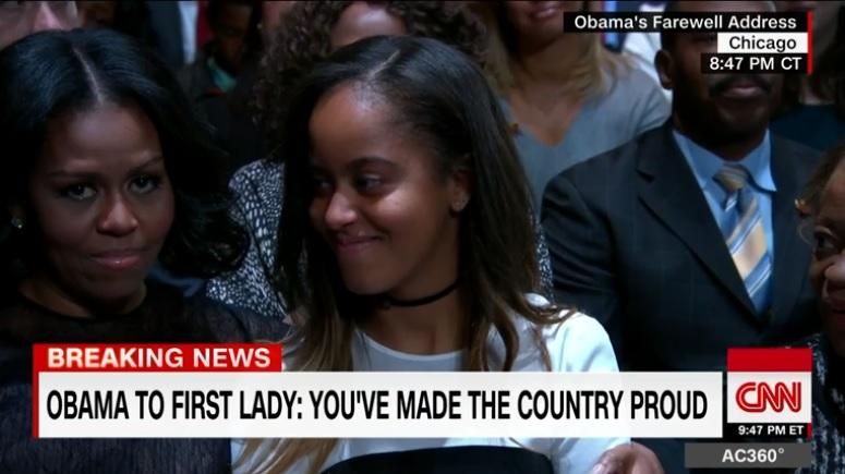 Vì sao con gái út ông Obama vắng mặt khi bố phát biểu? - 2