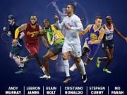 """Bóng đá - Ronaldo, Murray, Bolt """"đấu đá"""" tranh bá chủ hành tinh"""