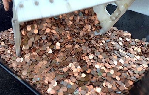 Mỹ: Người đàn ông mang 5 xe cút kít tiền xu đi nộp thuế - 2