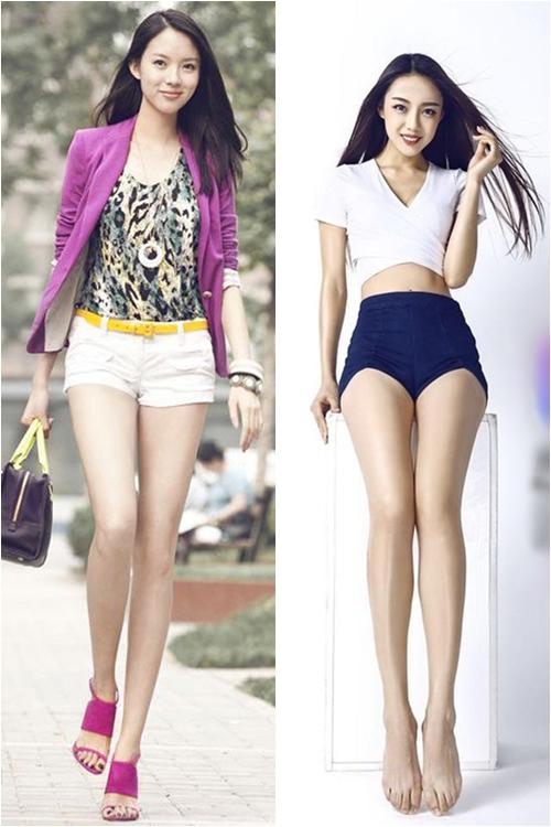 Chân dài giống Hoa hậu Trương Tử Lâm khiến dân mạng sôi sục - 1