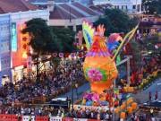 Thế giới - Khu phố Hoa ở Singapore trang trí rực rỡ đón Tết con gà