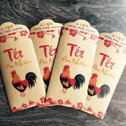 Phong bao lì xì Tết 2017 hình gà độc, lạ gây sốt - 2
