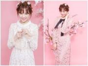 Thời trang - Hari Won xinh như búp bê với áo dài ren lạ mắt