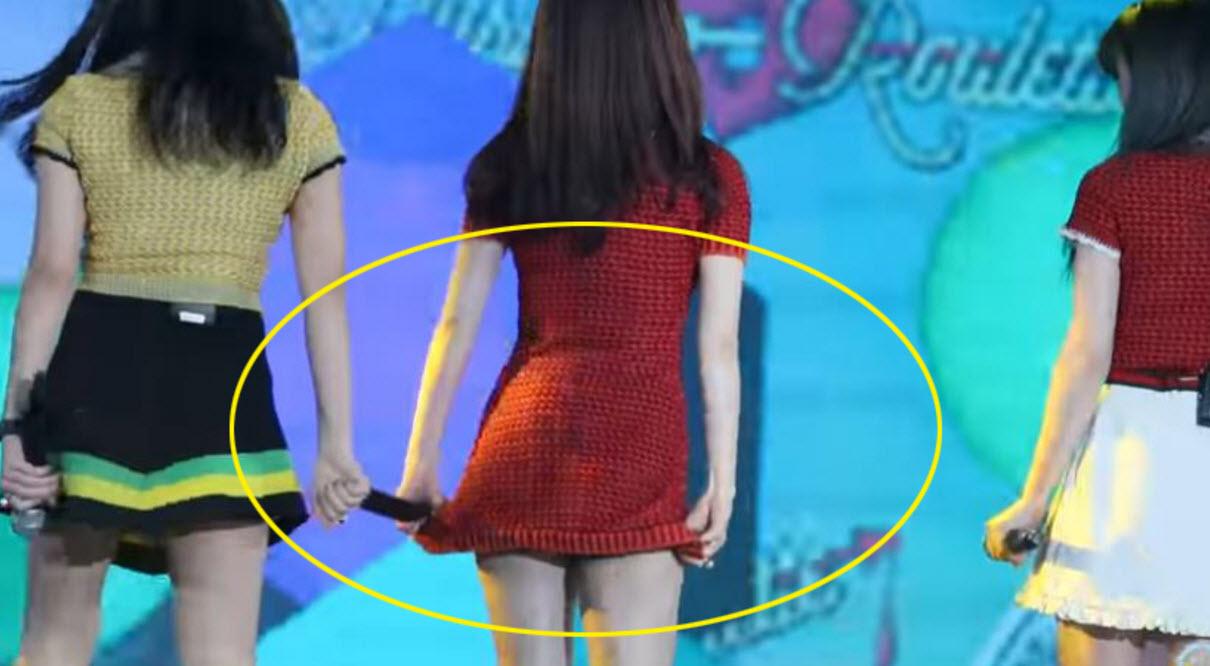 Người đẹp Hàn khổ sở vì diễn với váy quá ngắn - 2