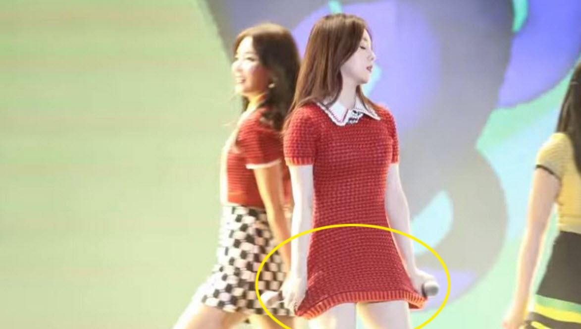 Người đẹp Hàn khổ sở vì diễn với váy quá ngắn - 4