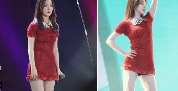Người đẹp Hàn khổ sở vì diễn với váy quá ngắn - 1