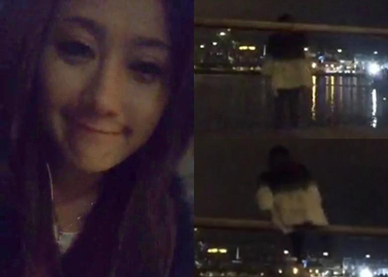 Chân dài Hong Kong livestream cảnh nhảy xuống biển tự sát - 1