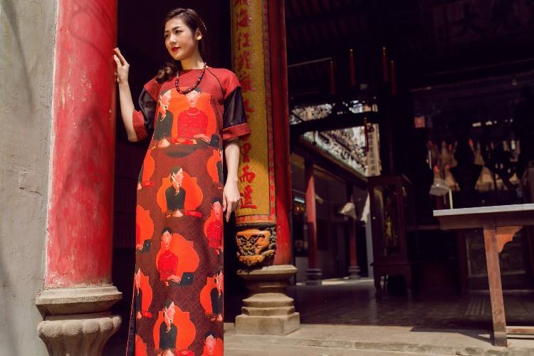 Á hậu Tú Anh mơn mởn nét xuân thì với áo dài nền nã - 2