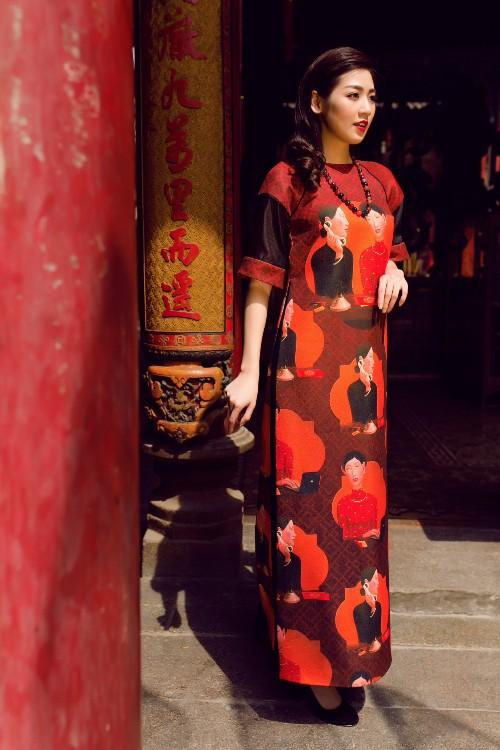Á hậu Tú Anh mơn mởn nét xuân thì với áo dài nền nã - 3