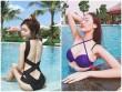 """Elly Trần mặc áo tắm cắt xẻ, """"nóng từng cm"""" bên hồ bơi"""