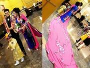 """Độc quyền: Xuất hiện thêm một tà áo """"khủng"""" hơn của vợ Thanh Bạch"""
