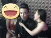 Ca nhạc - MTV - Trấn Thành lộ ảnh trong quán karaoke bên 2 chân dài hở bạo