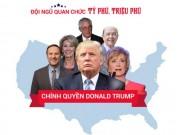 Dàn quan chức tỷ phú, triệu phú trong chính quyền Trump