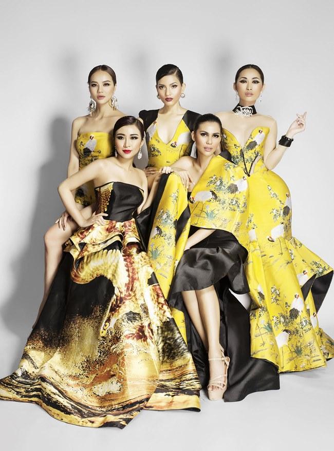 Dàn hoa hậu, mẫu Việt đọ sắc bên Hoa hậu Trái đất - 1