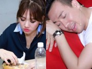Phim - Vợ chồng Trấn Thành ngủ gục, ăn bánh mỳ chạy show giáp Tết