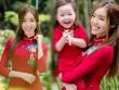 Elly Trần xinh như tiên nữ, cùng con gái rạng rỡ du xuân