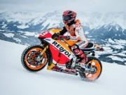 Thế giới xe - Phát sợ Honda RC213-V độ lốp đinh chạy trên tuyết