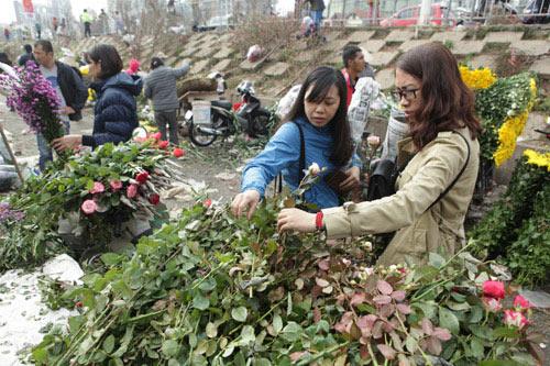 30 Tết, chen chân ở chợ hoa lớn nhất Hà Nội - 6