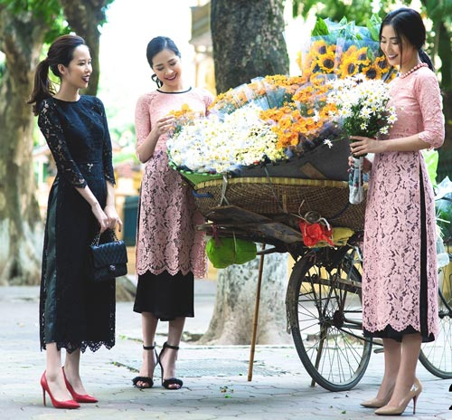 6 kiểu áo dài lạ mắt khiến chị em Việt mê nhất xuân này - 2