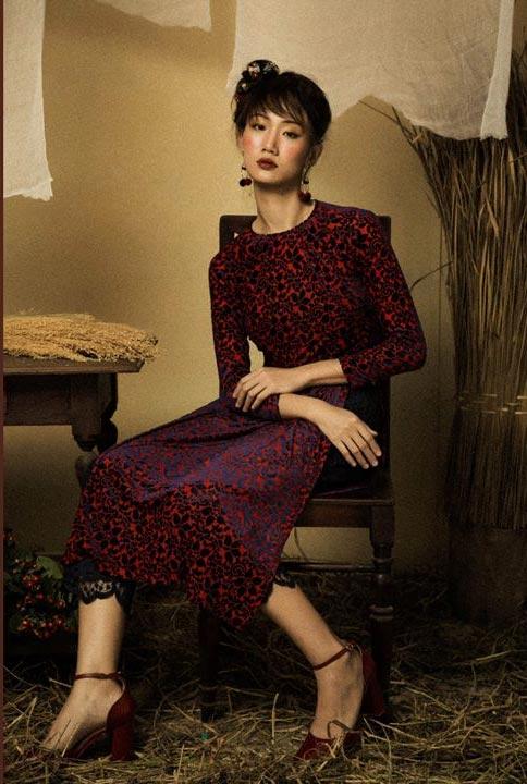 6 kiểu áo dài lạ mắt khiến chị em Việt mê nhất xuân này - 8