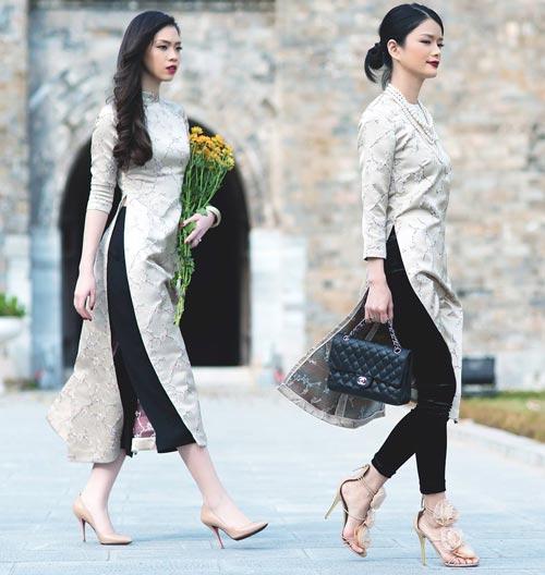6 kiểu áo dài lạ mắt khiến chị em Việt mê nhất xuân này - 6
