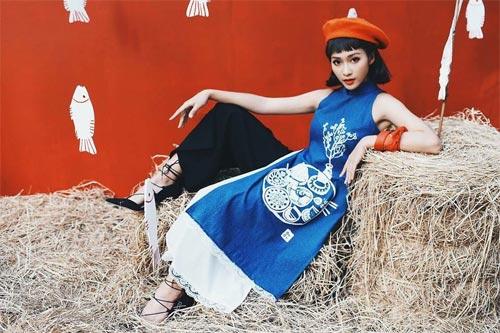 6 kiểu áo dài lạ mắt khiến chị em Việt mê nhất xuân này - 12