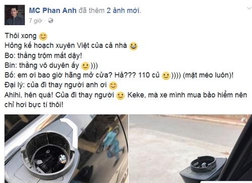 """MC Phan Anh gặp """"vận xui"""" mùng 2 Tết, mất 110 triệu đồng - 1"""