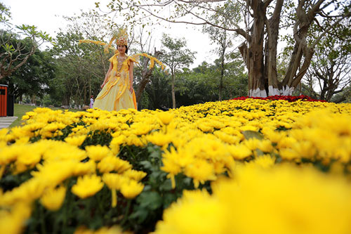 Tận thấy hội hoa xuân lớn nhất miền Bắc ngày đầu năm - 5